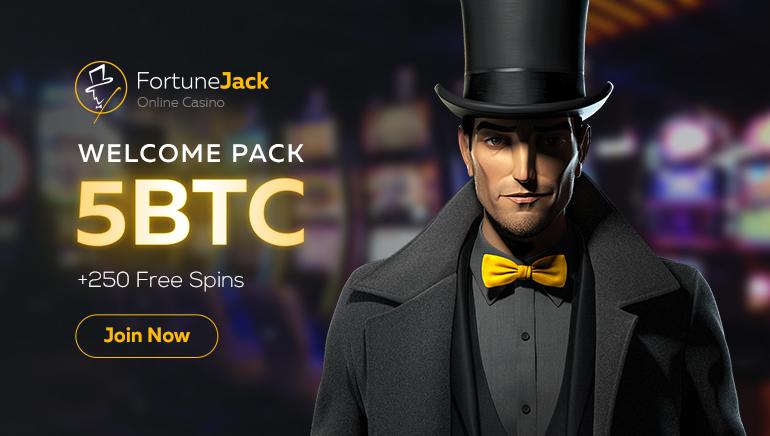 獲取FortuneJack Casino 5比特幣和250次免費旋轉