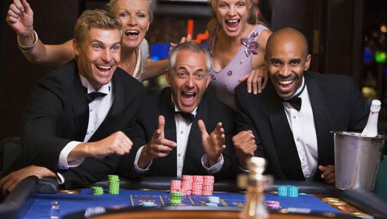 在电视赌场赌博